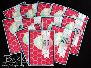 Beautiful Oh Hello Cards sent by Stampin' Up! Demonstrator Bekka Prideaux to welcome people to her team.  Find out about joining her here