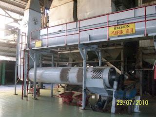 polishing drum di pabrik kelapa sawit