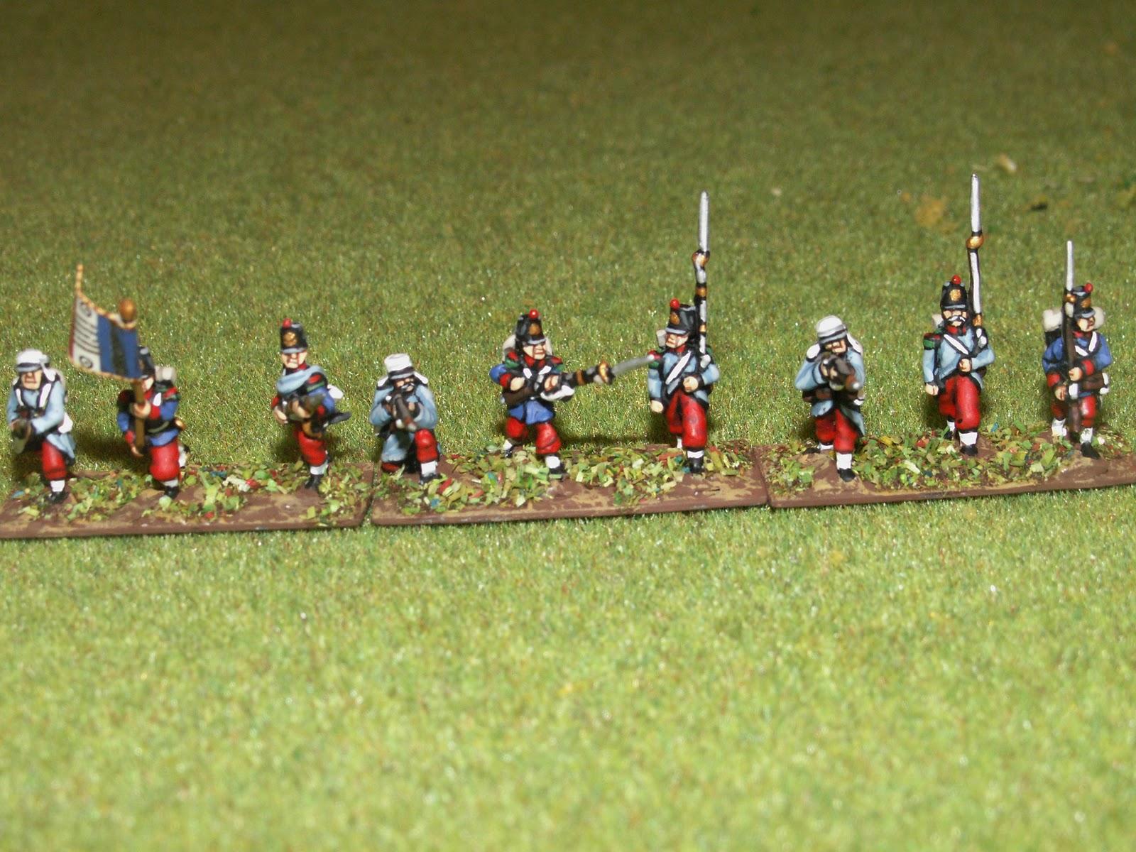 Infanterie en tenue de cagne ancien uniforme infanterie de ligne en