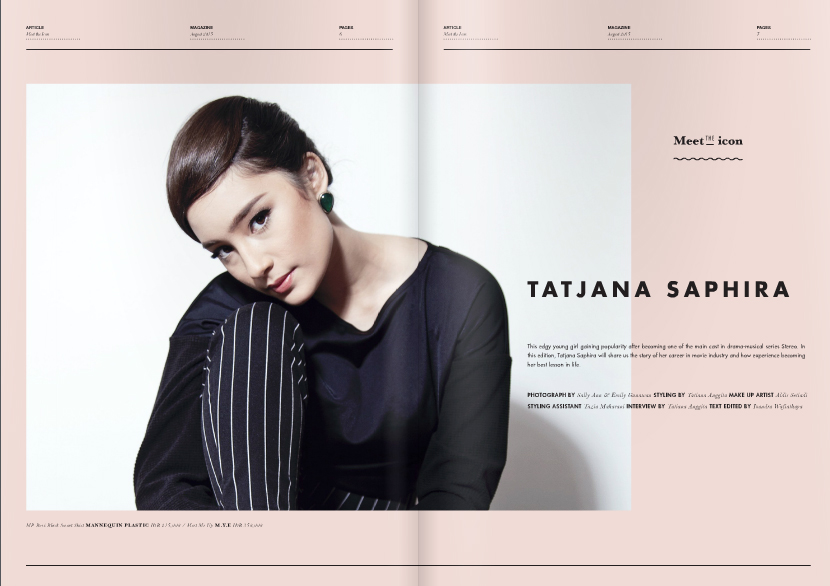 LocalBrand.co.id presents Breakthrough Actress Tatjana Saphira