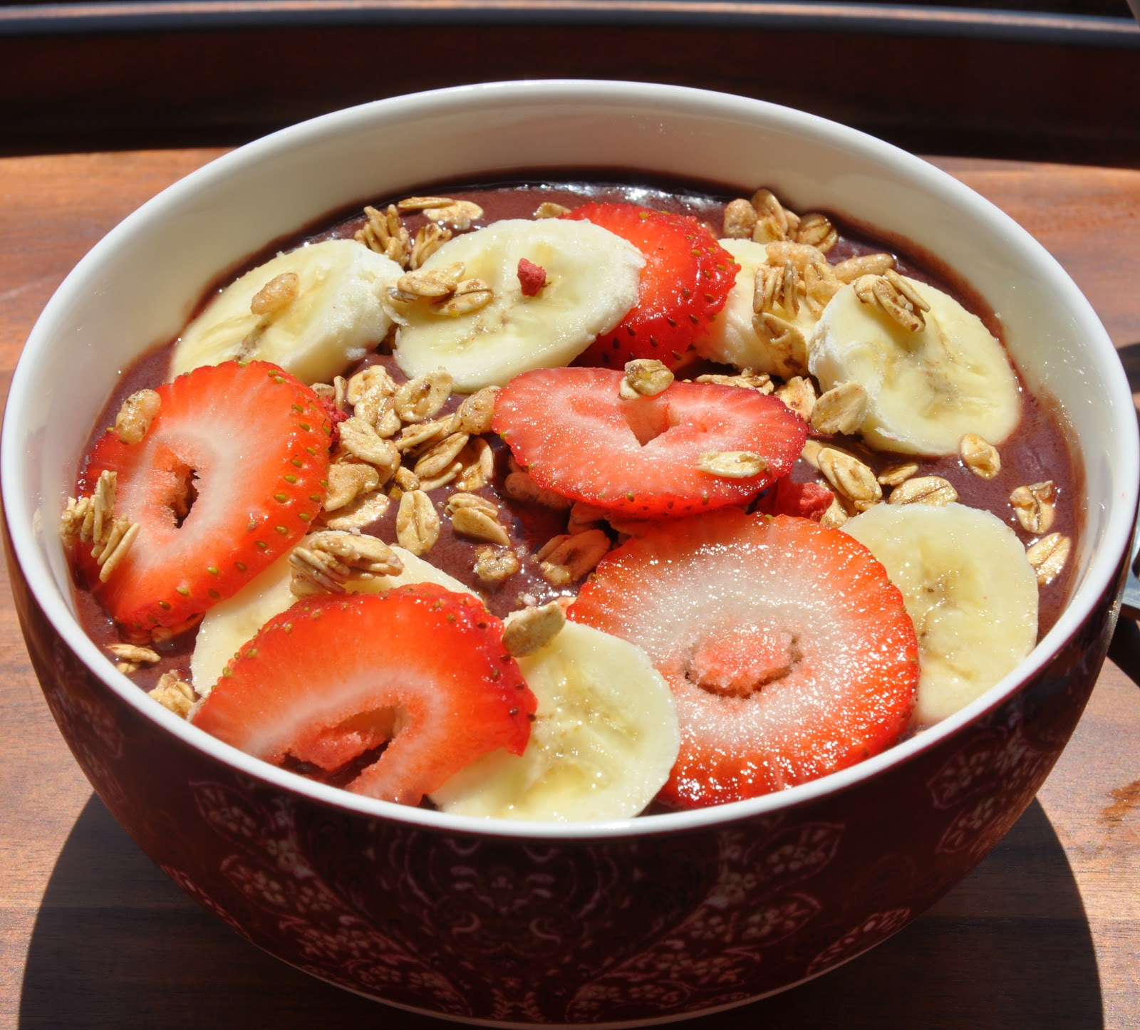 how to make your acai bowl thick