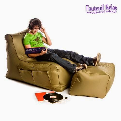 Fauteuil relax avec pouf sit on it fauteuil relax - Fauteuil relaxation avec pouf ...