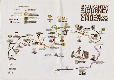 The Salkantay Journey to Machu Picchu Map