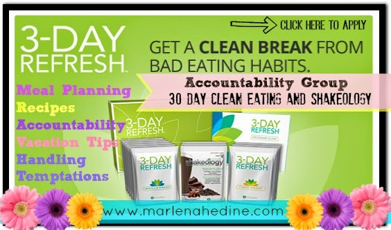 3 day refresh, cleanse, clean eating, acceptability, support, meal planning, recipes, loose the bloat