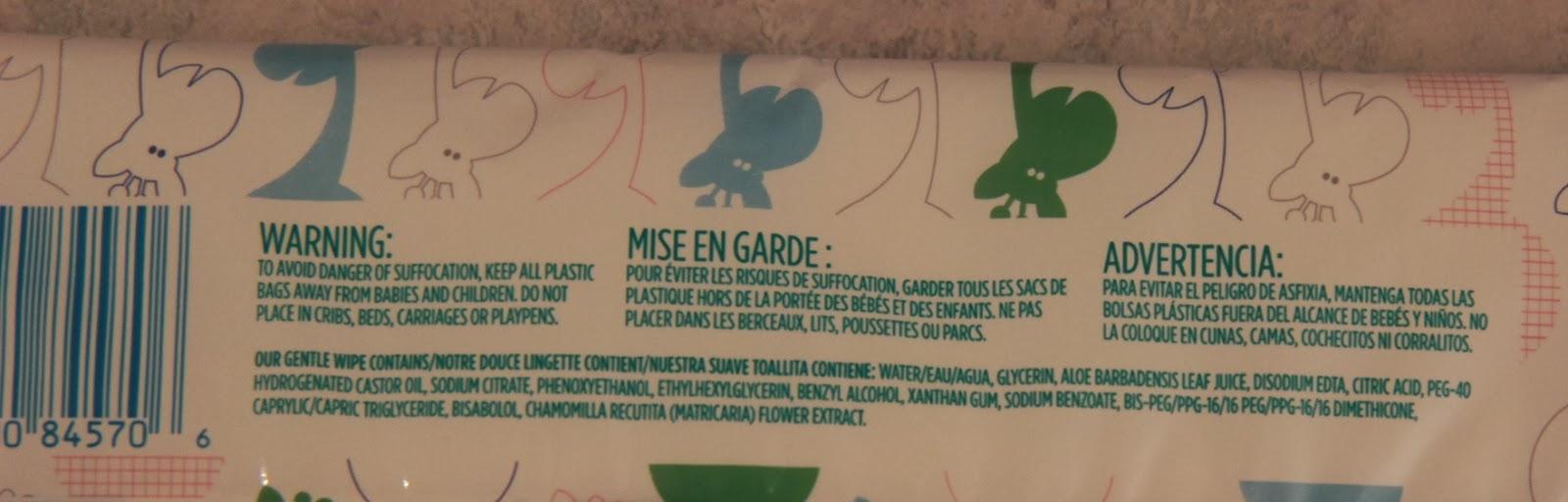 Pampers Sensitive Baby Wipe Ingredients