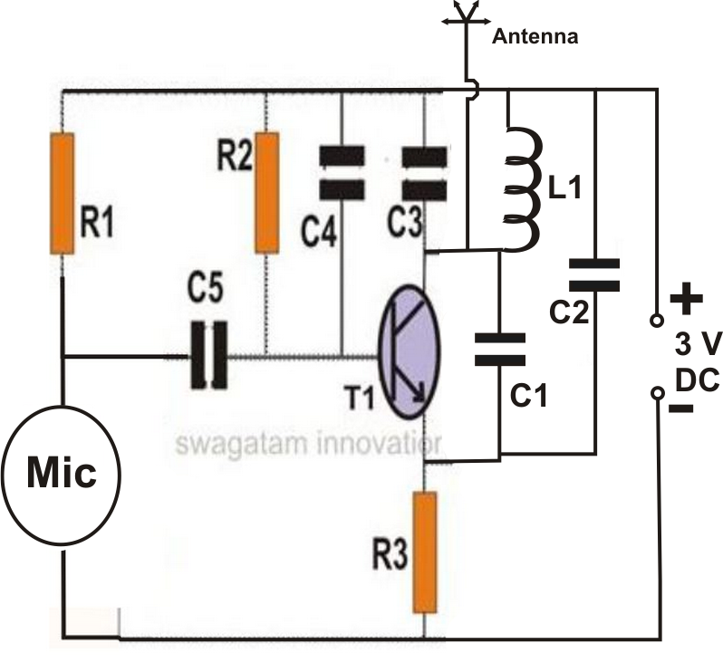 how to make spy bug transmitter circuit
