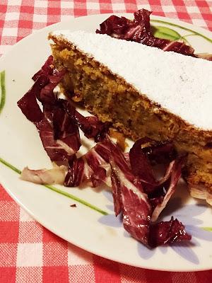 torta ciosota o torta dolce al radicchio