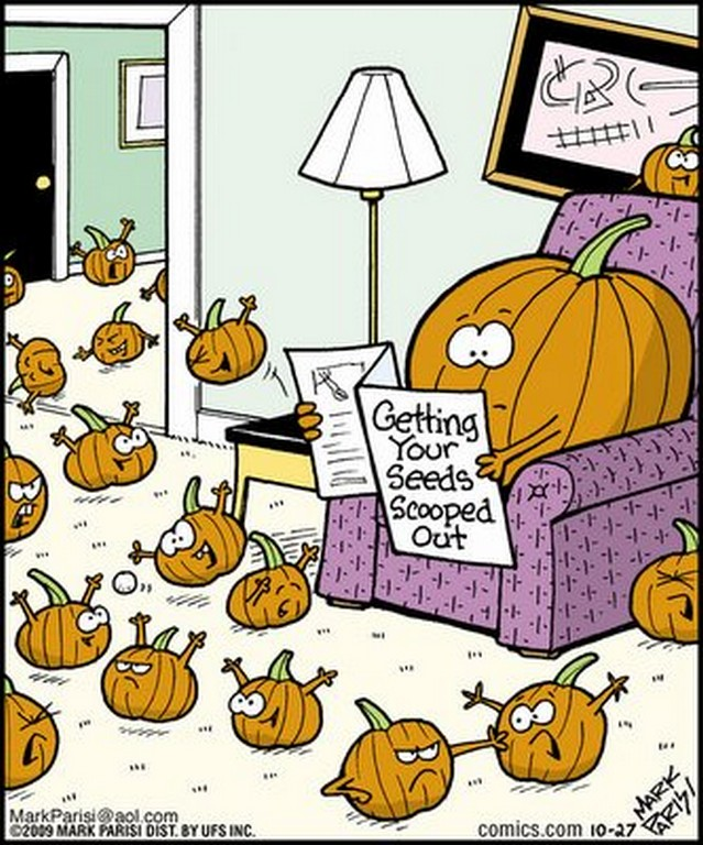 Chuck 39 s fun page 2 ten assorted single panel cartoons for Funny pumpkin drawings