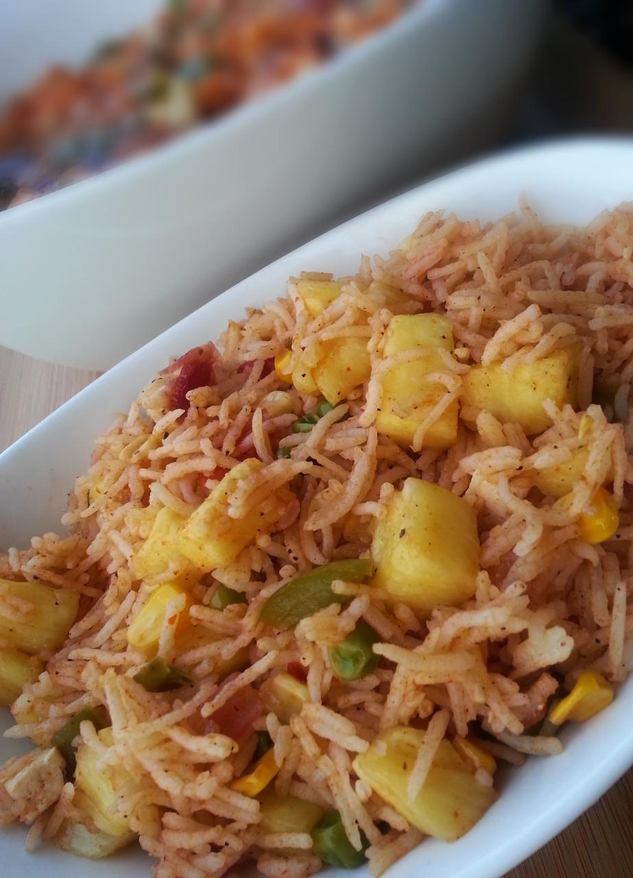 pineapple fried rice, oriental fried rice, rice