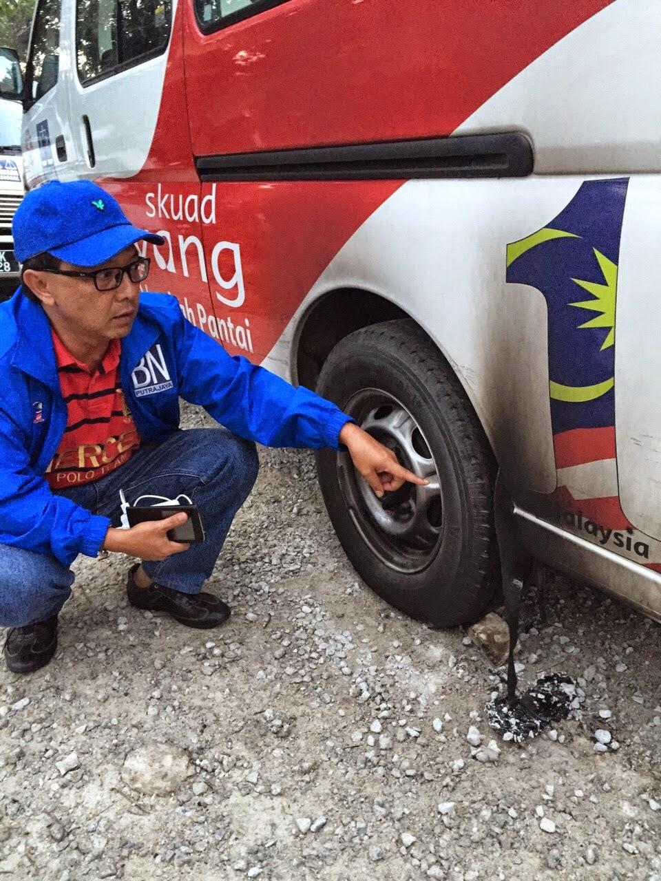 Van Skuad Sayang Kenderaan Puteri UMNO Jadi MANGSA Lepas GERAM PRKPermatangPauh