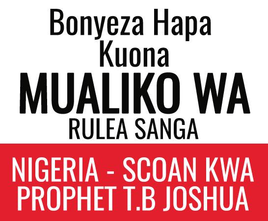 MWALIKO WA RULEA KWA TB JOSHUA