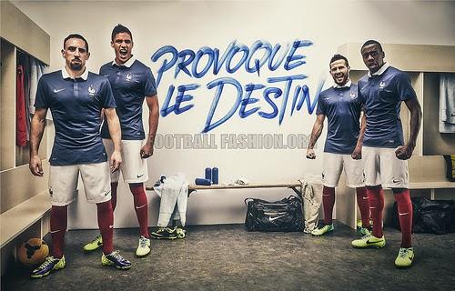 Kostum Timnas Perancis di Piala Dunia 2014