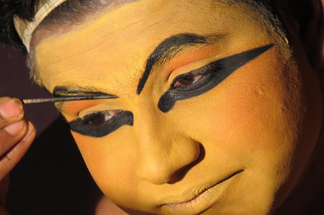 Make up of Kathakali Performers