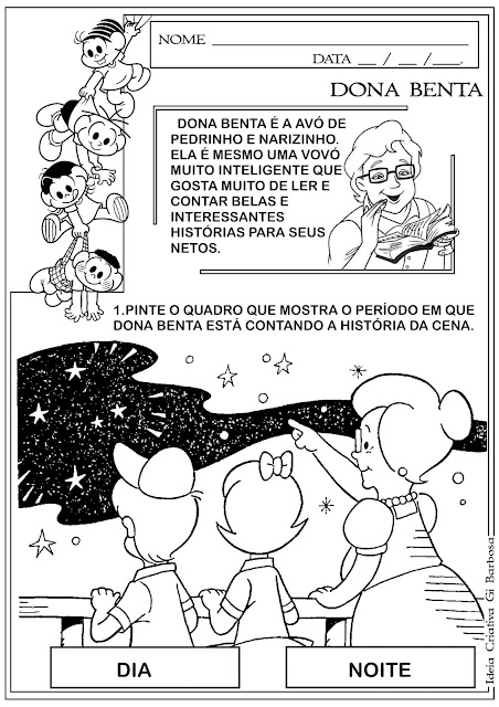 Atividade Dia do Livro Infantil - Dona Benta