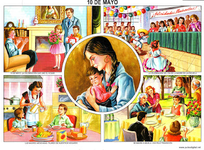 10 d Mayo, día de las madres [Lámina escolar]