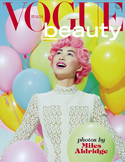 Model @ Estelle Chen by Miles Aldridge for Vogue Italia Beauty, June 2015