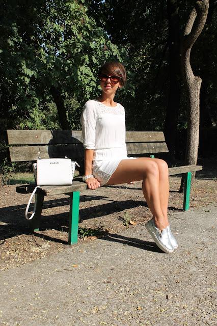 Silver Bershka shoes