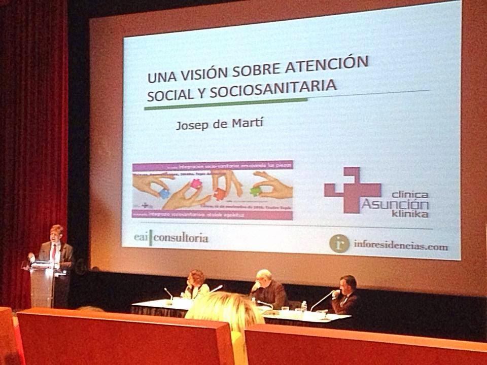 Josep de Martí participando en jornada sociosanitaria