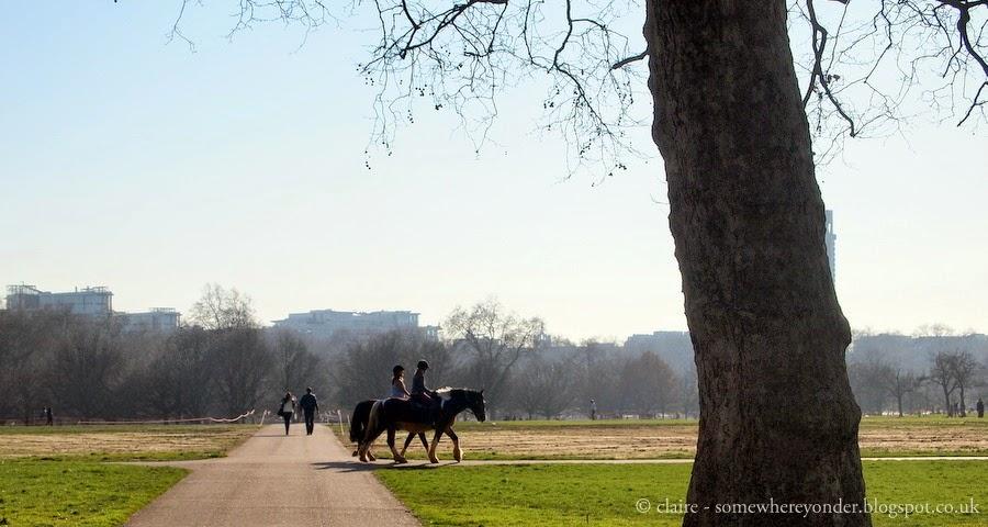 Autumn horse riding in Hyde Park