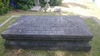 Mary Shelley's gravestone in St Peter's churchyard, Bournemouth