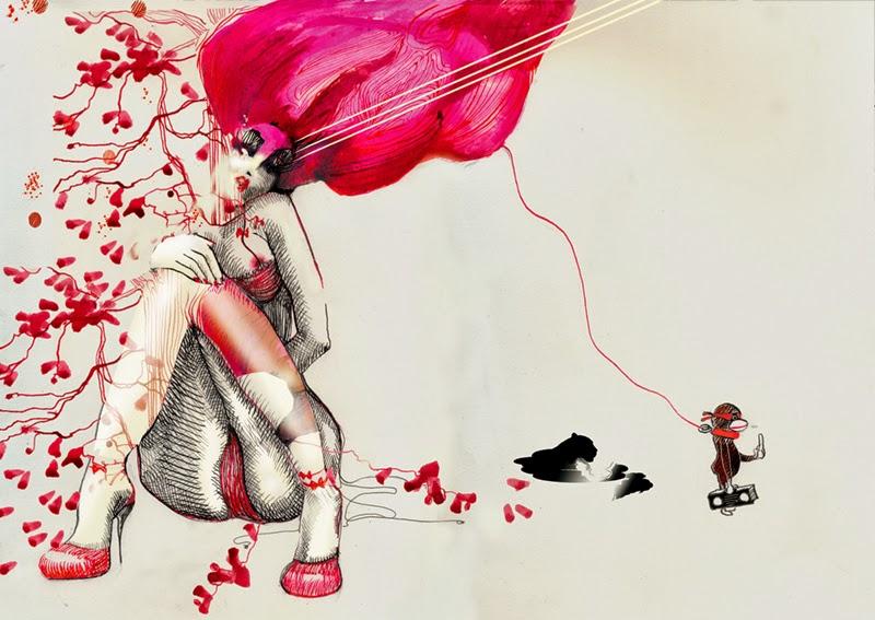 Doctor Ojiplático. Naja Conrad-Hansen. Meannorth. Ilustración, Pintura y Diseño