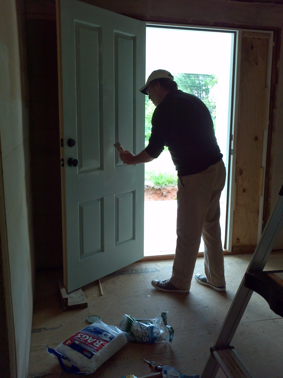 The Ledford Colley House Painting The Front Door And Protecting The