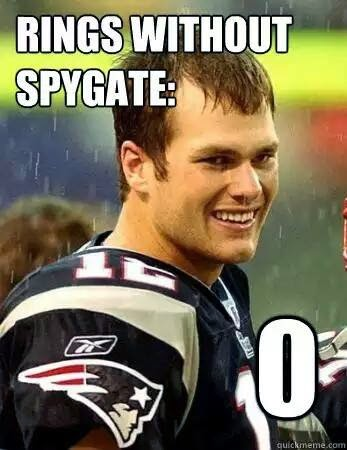 Rings without spygate: 0 - Brady