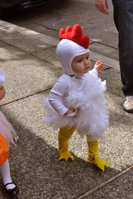 call me a chicken will you ill show you a chicken the cutest little chicken halloween costume
