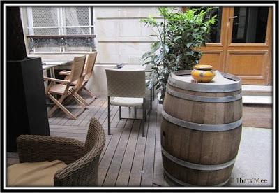 Restaurant bar terrasse Le Patio Opéra Paris 9eme la cour