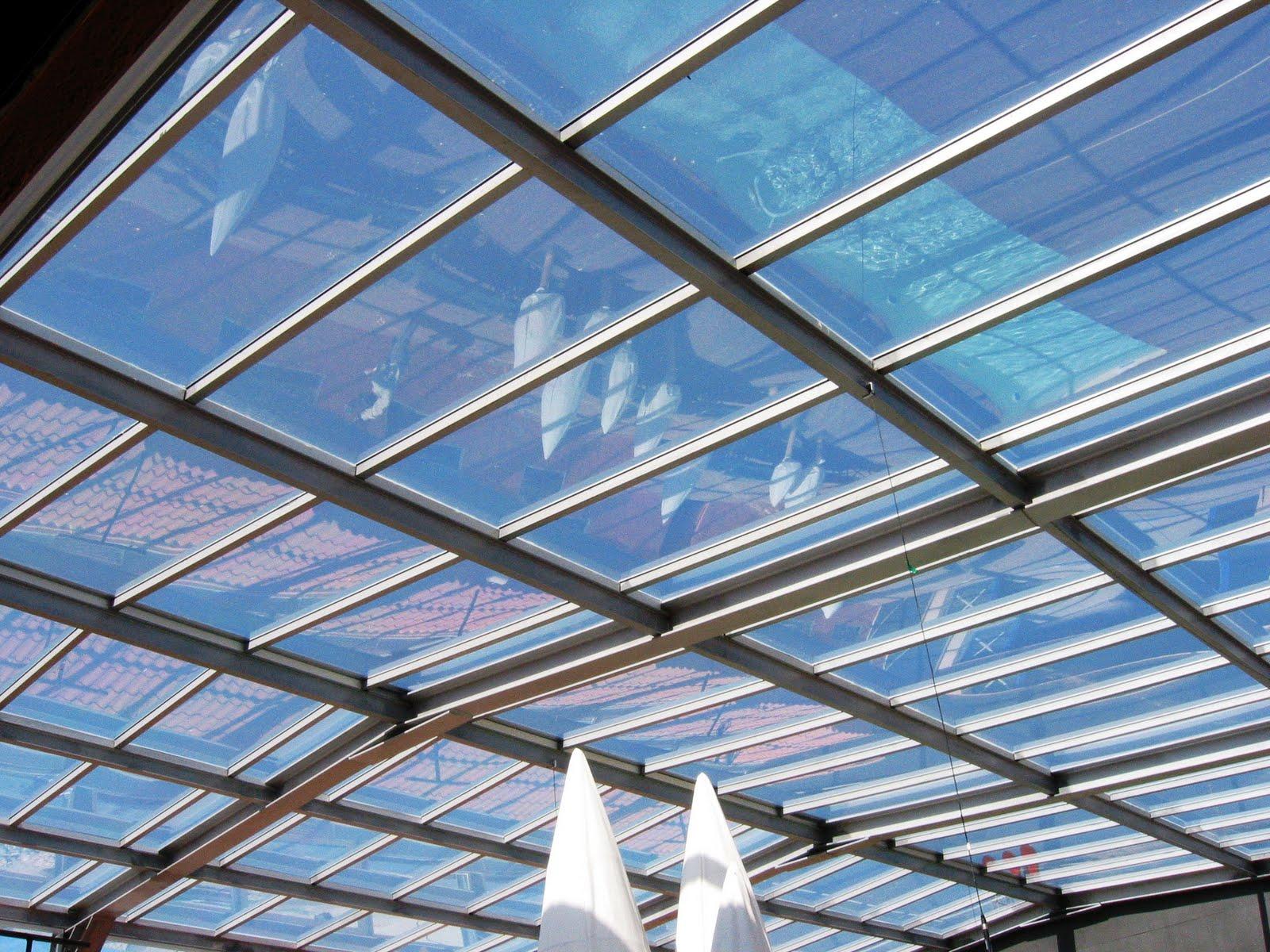 Detalle de una estructura de hierro tratado para techo de cristal en guadalix de la sierra - Estructura de metal ...