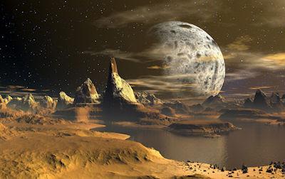 Paisaje en el espacio con planetas alienígenas - Space Landscape