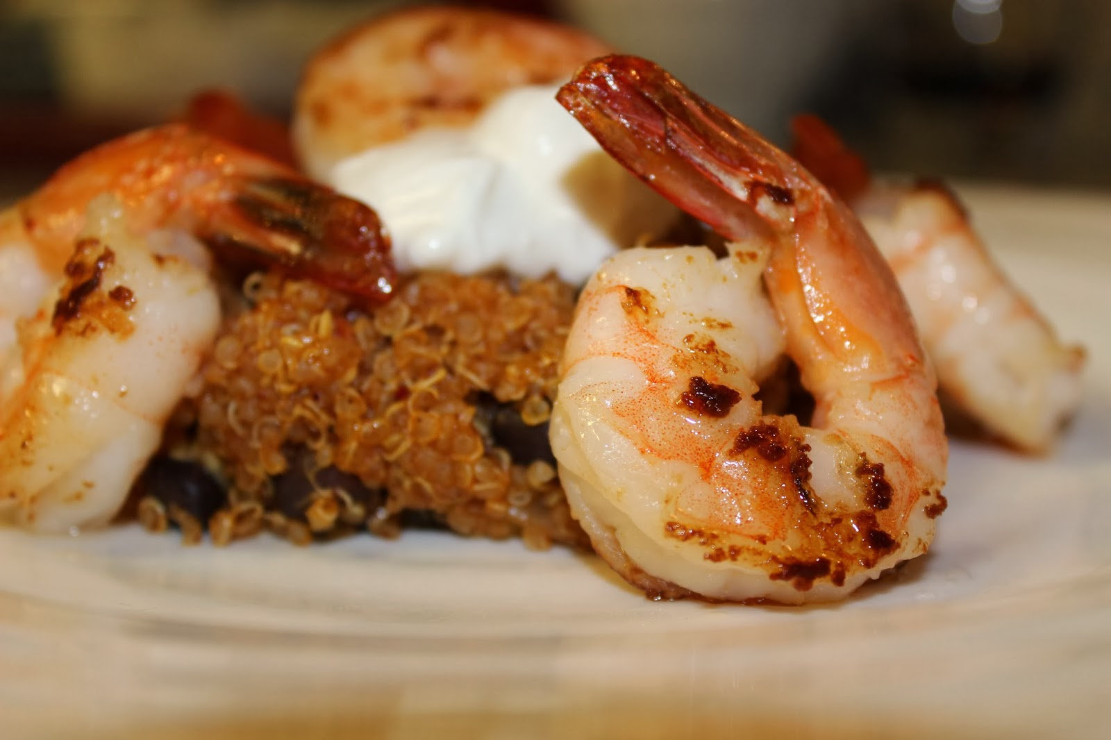 Healthy Mexican Quinoa with Shrimp