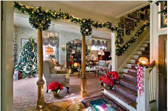 como iluminar la casa en navidad
