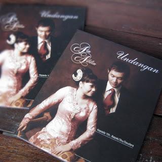 Undangan pernikahan hardcover
