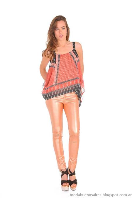 Tops moda mujer verano 2014. Marcas Argentinas Ossira.