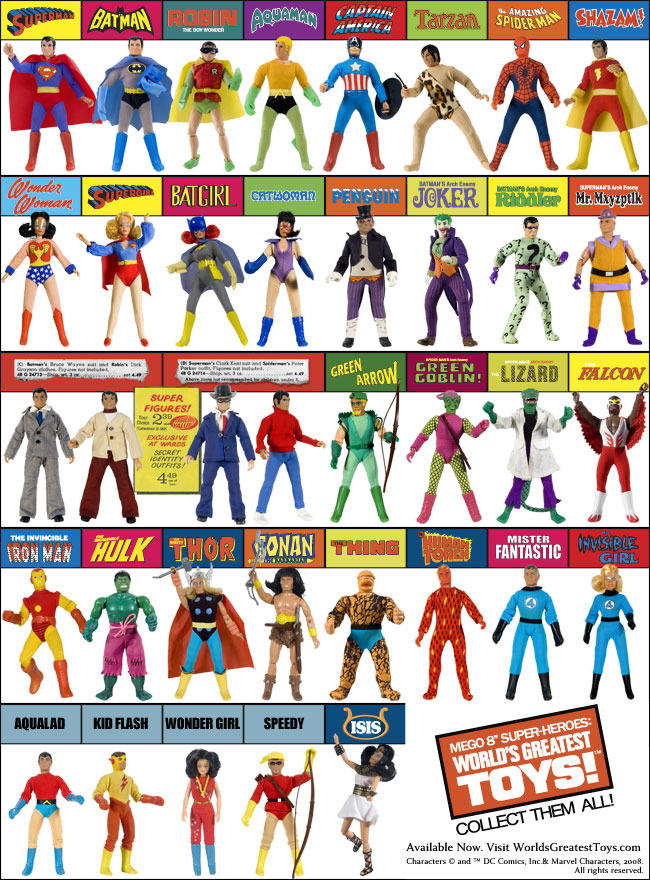 Best Super Hero Toys And Action Figures : Patrick owsley cartoon art mego