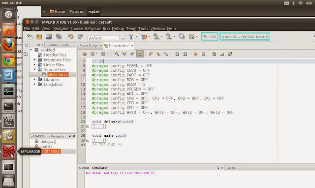 Mplab X IDE Tutorial  Programming and coding