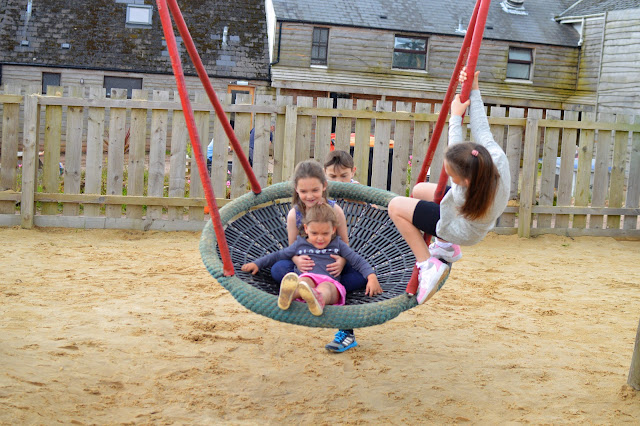 Children on Monkey Swing