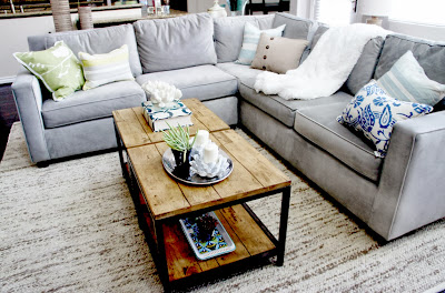 traditional wooden panel coffee table in the living room