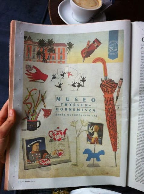 2013 newspaper illustration for Thyssen-Bornemisza Musem