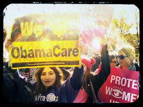 Pro-Obamacare demonstrators