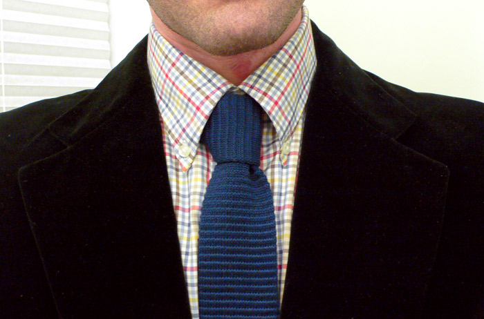 paintbrush shirt and knit tie