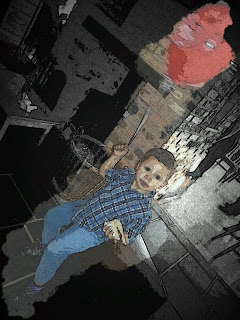 Boy with red balloon