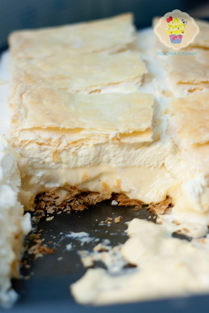 kremówka przepis, kremówka ciasto, ciasto kremówka, napoleonka, ciasto napoleonka