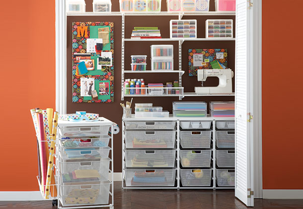 Closet Craft Room Storage Ideas 610 x 420