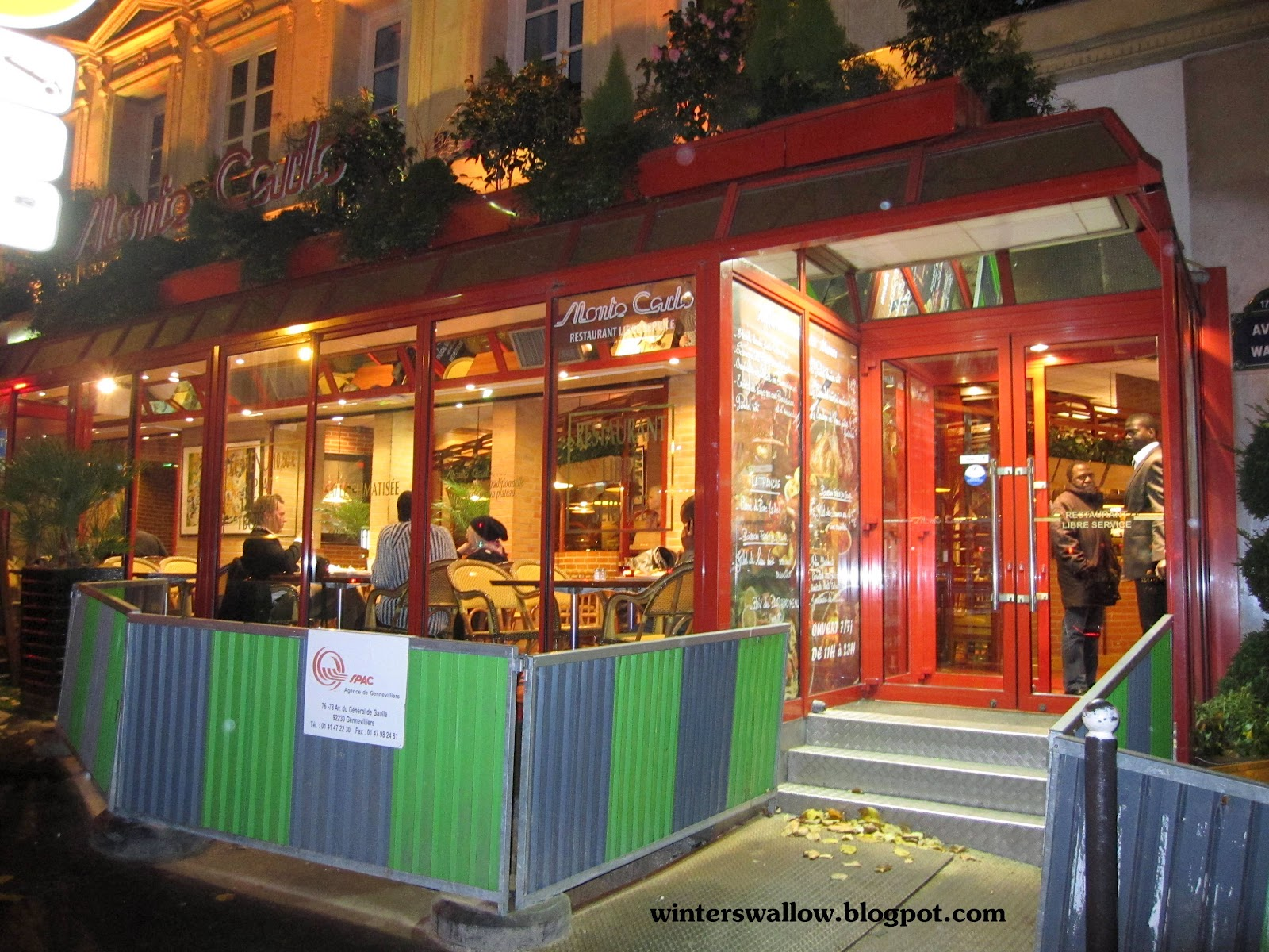 Julie 39 s travel blog eat cheaply at monte carlo restaurant for Paris restaurant