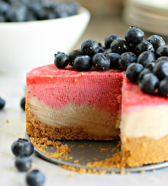 Frozen Banana Berry Cake