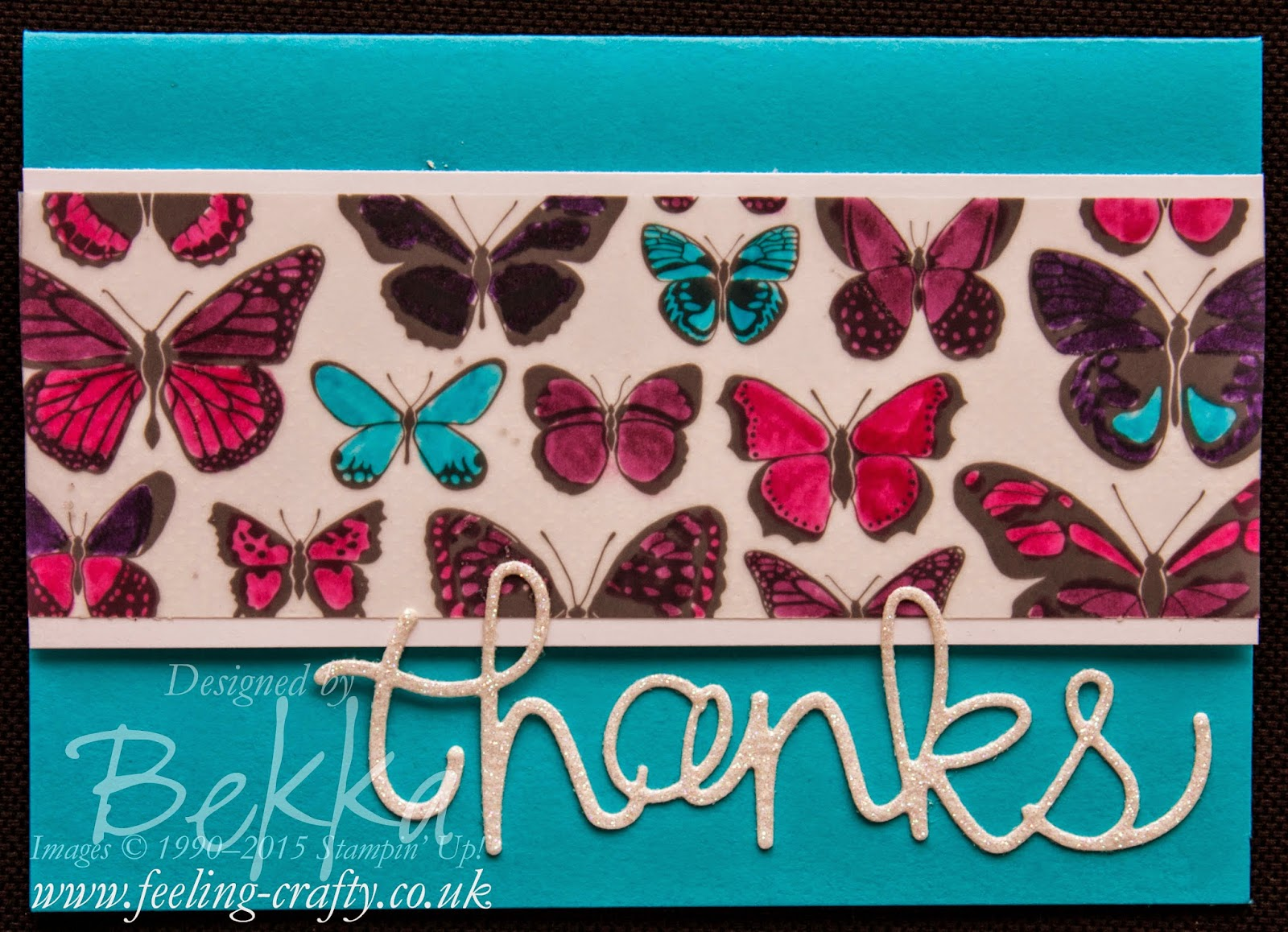 Sheer Perfection Vellum Butterfly Thank You Card - check it out here