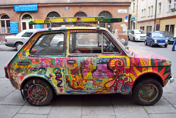 Graffiti Fiat Art Car