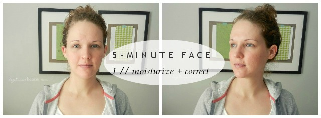 5-Minute Face // moisturize + correct